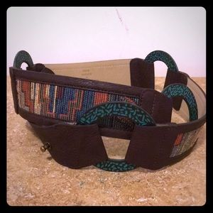 Chico's Tapestry And metal accents Belt M